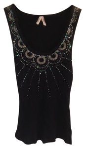 Silence + Noise Boho Sequins Top Black