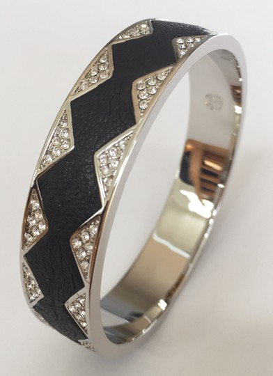 House of Harlow 1960 Starburst Silver and Leather Bracelet