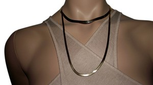 Two Beautiful Herringbone 14k solid gold necklaces Over 23.5 inches long and Second necklace 16 inches long