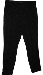 Ann Taylor LOFT Animal Print Velvety-feel Fabric Skinny Pants Black