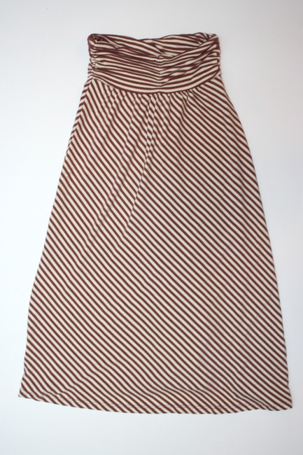 Ella Moss short dress brown + off-white Striped on Tradesy