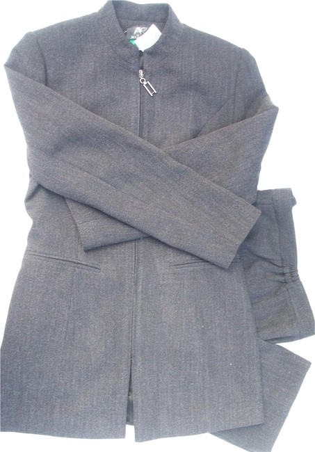 Maree Maree Zipper Career Style Women's Suit Pant Set Gray 3/4 Lining Polyester NWT!