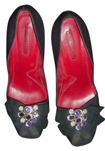 Cesare Paciotti Open Toe Stilettos Satin black Pumps