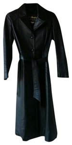 Marquis of London Leather Trench Coat