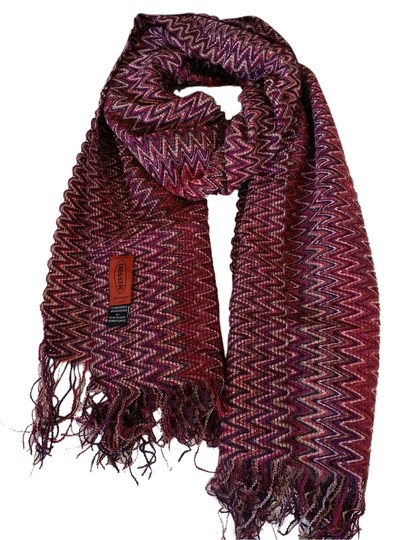 Preload https://item5.tradesy.com/images/missoni-pink-chevron-fringed-scarf-3613939-0-0.jpg?width=440&height=440