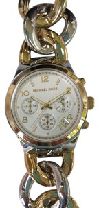 Michael Kors Michael Kors Ladies Twisted Link Bracelet Chronograph Watch MK3199