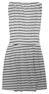 Other short dress black + white Unique Striped on Tradesy