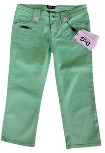 Dolce&Gabbana D&g Dolce And Gabbana Love Affair Straight Pants Lime
