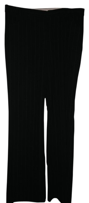 The Limited Cassidy Fit Flare Pants Black w/white pinstripes