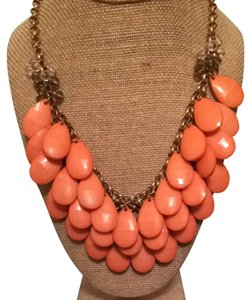 Francesca's Coral Layered Bead Statement Necklace