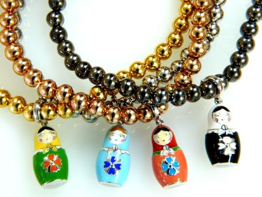 Russian Dolls by Svetlana Russian Dolls by Svetlana hand made silver russian doll pendant on the chain