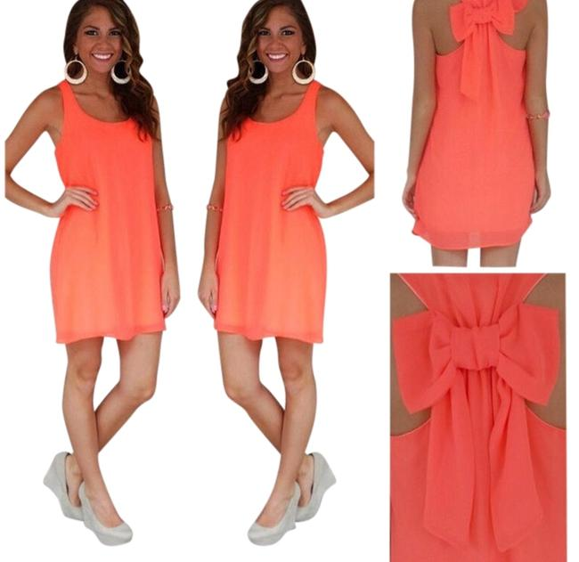 Preload https://item2.tradesy.com/images/coral-short-casual-dress-size-4-s-3614701-0-0.jpg?width=400&height=650