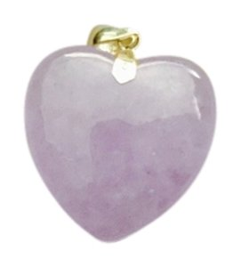 Charm For Necklace Lavender Jade Heart