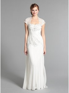 Sue Wong Ivory Silk Sweetheart Gown #w3404 Formal Wedding Dress Size 6 (S)