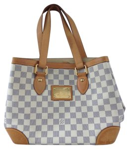 Louis Vuitton Hempstead Satchel in Damier Azur