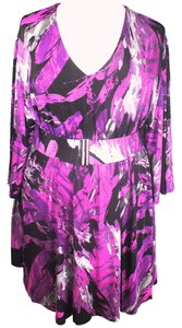 Other Plus Size Fashions Belted Dress