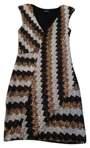 bebe Black Gold Mini Dress