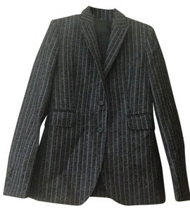 CoSTUME NATIONAL Costume National Grey and White pinstripe velvet blazer
