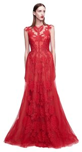 Monique Lhuillier New Evening Embroidered Ball Gown Dress