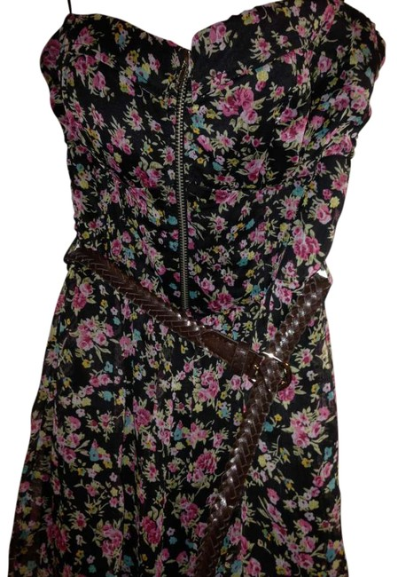 Sheer Floral Dress with shorts undeneath short dress floral on Tradesy