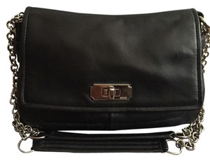 Coach Leather Chain Silver Shoulder Bag