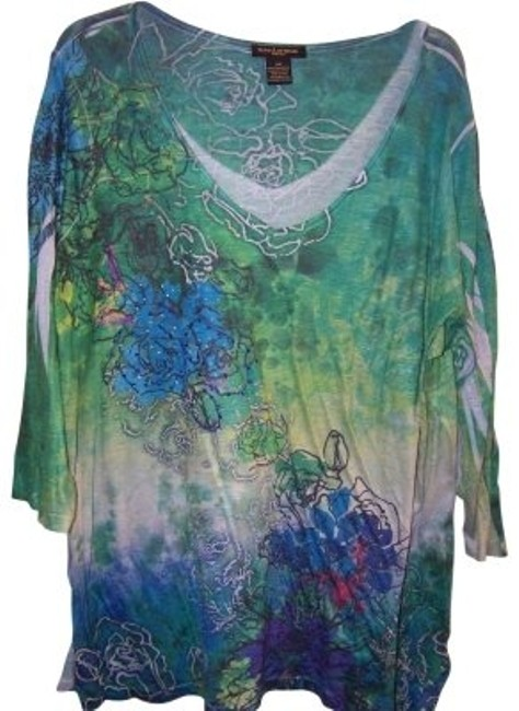 Preload https://item3.tradesy.com/images/susan-lawrence-blue-green-turquoise-purple-blouse-size-22-plus-2x-36162-0-0.jpg?width=400&height=650