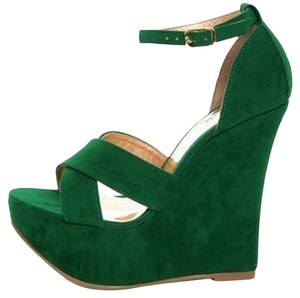 Luichiny Green Wedges