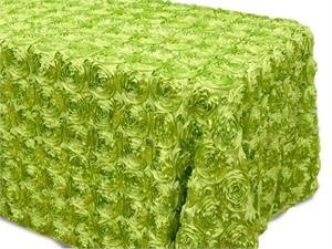 Sage Rosette Tablecloth 90