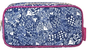 Lilly Pulitzer Lilly pulizter double pouch makeup bag in upstream pattern