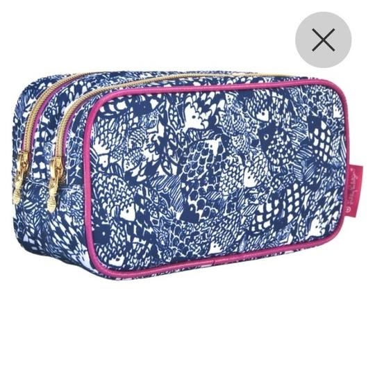 Lilly Pulitzer Lilly pulizter double pouch makeup bag in upstream pattern Image 1