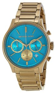 Michael Kors Michael Kors Women's Chronograph Bailey Gold-Tone Stainless Steel Bracelet Watch 44mm MK5910
