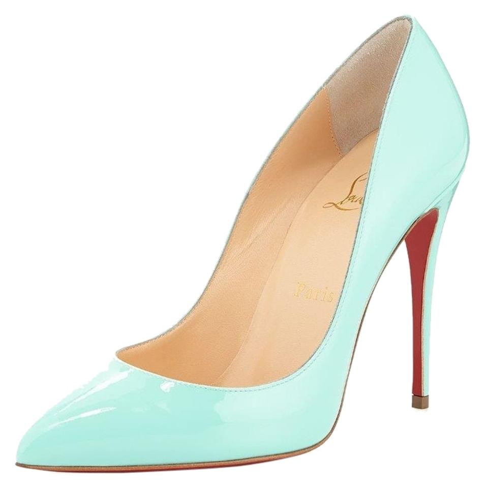 Christian Louboutin 100 Opaline Turquoise Pigalle Follies 100 Louboutin Pumps f88bcc