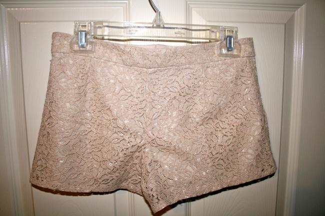 Heritage 1981 Tan Nude Beige Forever21 Lace Dress Shorts Beige, tan