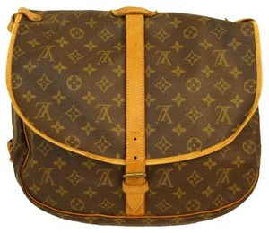 Louis Vuitton Saumur Crossbody Canvas Lv Carrier Double Sided Monogram Messenger Bag