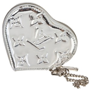 Louis Vuitton Louis Vuitton Silver Mirror Miroir Monogram Zippy Heart Coin Purse