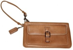 Coach Wristlet in Camel