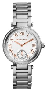 Michael Kors Michael Kors Mini Skylar Silver Dial Stainless Steel Ladies Watch 33mm MK5970