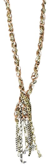 Other Gold, Rose gold and silver chain necklace
