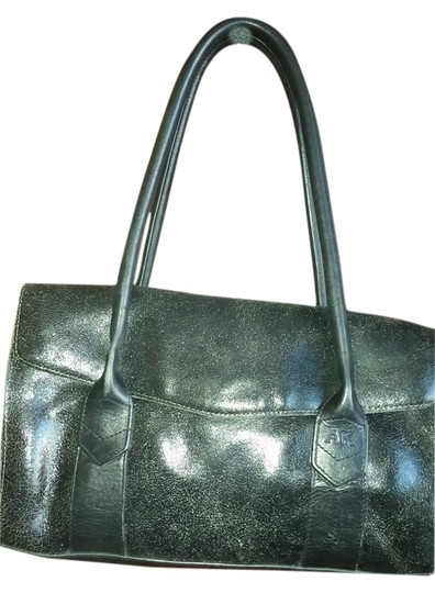 AK Anne Klein Satchel in Crackled black