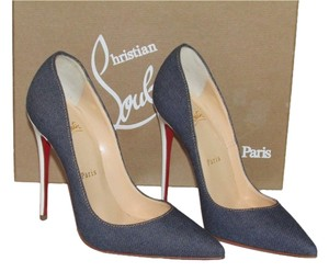Christian Louboutin Blue Denim Pumps