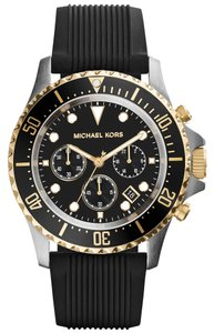 Michael Kors Michael Kors Women's Chronograph Everest Black Silicone Strap Watch 45mm MK8366