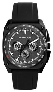 Michael Kors Michael Kors Grandstand Men's Black Silicone Chronograph Watch MK8390