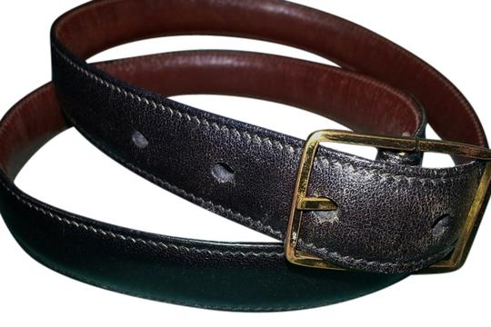 Preload https://item5.tradesy.com/images/black-brown-and-brass-2-sided-genuine-leather-belt-3619309-0-0.jpg?width=440&height=440