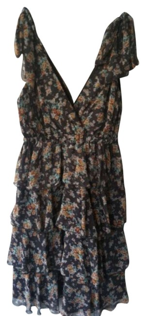 Preload https://img-static.tradesy.com/item/361932/grey-with-floral-print-no-above-knee-workoffice-dress-size-4-s-0-0-650-650.jpg