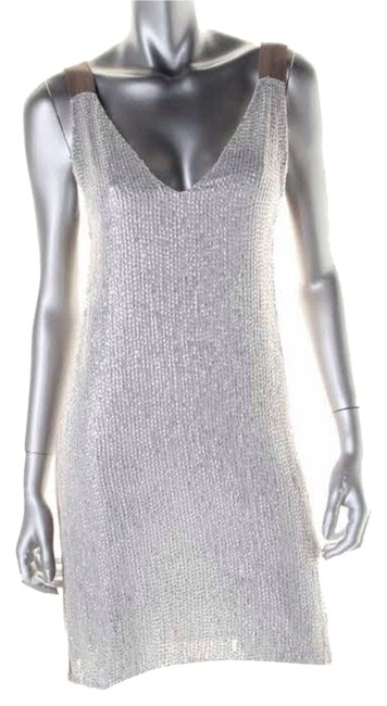 Preload https://item2.tradesy.com/images/renzo-and-kai-white-silver-brown-knee-length-cocktail-dress-size-8-m-3619516-0-0.jpg?width=400&height=650