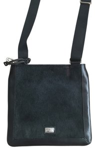 Brighton Must Have Rabbit Fur Leather Cross Body Bag