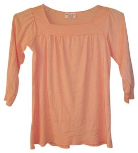 Michael Stars Orange Shine Top Tangerine