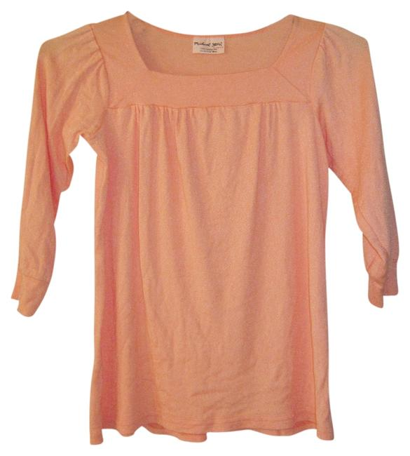 Michael Stars Orange Shine Square Neck Top Tangerine