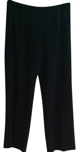 Giorgio Armani Designer Work Virgin Wool Trouser Pants Black