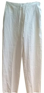 Neiman Marcus Linen Beach Linen Relaxed Pants White